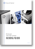 Kraus and Naimer, DC-Switch with knife contacts G20/G20S catalog (K&N, pdf thumbnail)