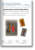 Stainless Steel Lock-Out Safety Device