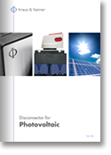 Kraus and Naimer, Disconnectors for Photovoltaic catalog  (K&N, pdf thumbnail)