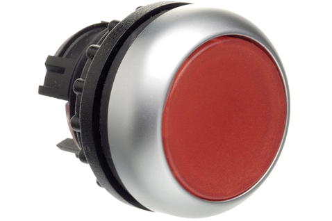 red industrial Push Button (non-illuminated or illuminated, Kraus and Naimer, K&N)